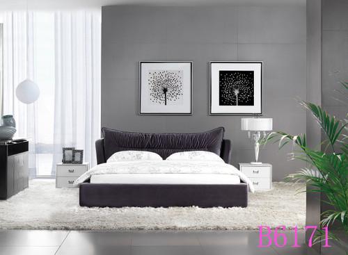 TOPJEN (B6171)  KING  3 PIECE  BEDSIDE BEDROOM SUITE WITH (#25) BEDSIDES  - ASSORTED COLOURS