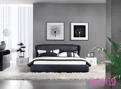 KING MENDARI  FABRIC BED (B6169) - ASSORTED COLOURS