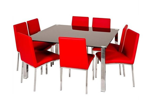 BARI  9 PIECE DINING SETTING WITH SQUARE TABLE - 1400(W) X 1400(L)