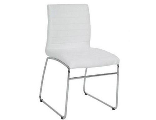 COOGEE  UPHOLSTERED DINING CHAIR  - WHITE