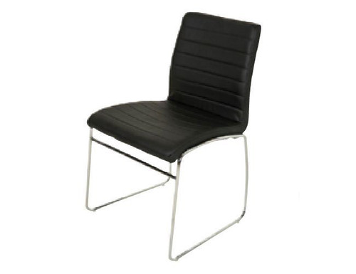 COOGEE  UPHOLSTERED DINING CHAIR  - BLACK