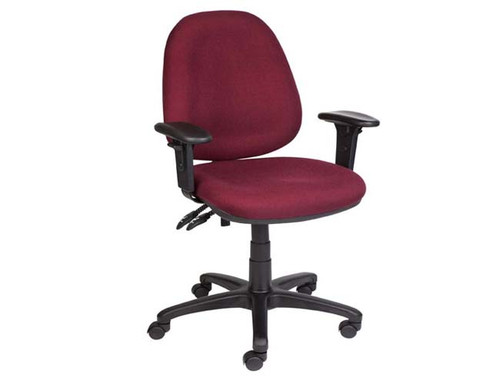 ERGO 3 LEVER 300 HIGH BACK CLERICAL ARM CHAIR - ASSORTED COLOURS