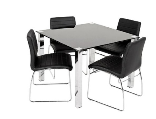 COOGEE 5 PIECE DINING SET WITH 1050(L) SQUARE TABLE