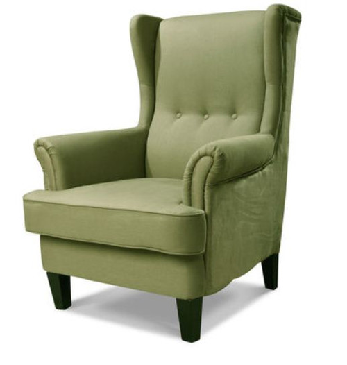 AUSTIN UPHOLSTERED WINGBACK CHAIR - SIENNA GREEN