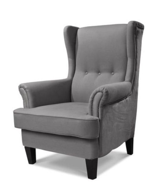 AUSTIN UPHOLSTERED WINGBACK CHAIR - SIENNA MUSHROOM