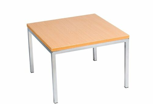 CUBANA SQUARE LAMP TABLE WITH 25MM MELAMINE TOP - 400(H) X 600(W) X 600(D)