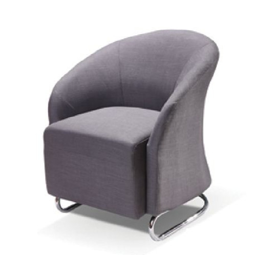 UPHOLSTERED STUDIO CHAIR  -  CHARCOAL