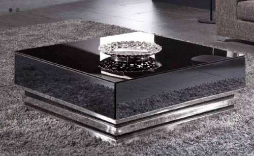 CITY COFFEE  TABLE  (WD-100)  -  380(H) X 1000(W) X 1000(D)-  WHITE OR BLACK GLOSS