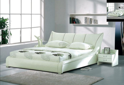 QUEEN  MARIO  LEATHERETTE  BED (B008) - ASSORTED COLORS AVAILABLE