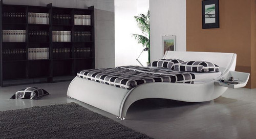 QUEEN  JEROME  LEATHERETTE  BED (B014) - ASSORTED COLORS AVAILABLE