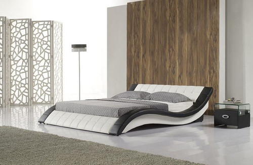 KING  NATHEN  LEATHERETTE  BED (B022) - ASSORTED COLORS AVAILABLE