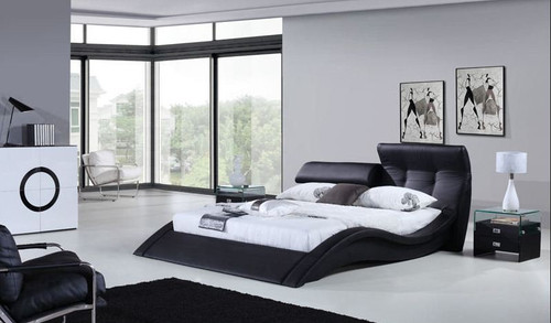QUEEN ZIMRAM LEATHERETTE  BED (B032) - ASSORTED COLORS AVAILABLE (SEE COLOR BOARD)