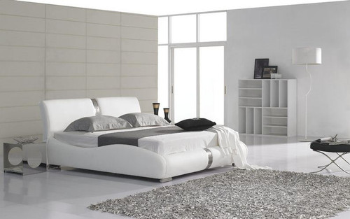 QUEEN MASREKAH LEATHERETTE  BED (B034) - ASSORTED COLORS AVAILABLE (SEE COLOR BOARD)