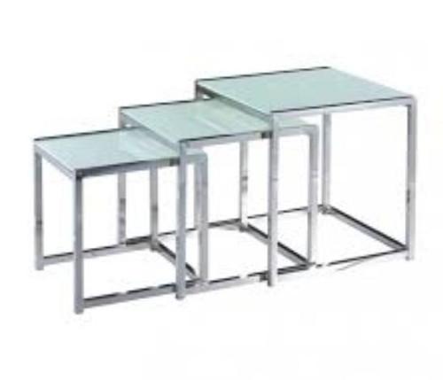 CUBE (WD-98)  NEST TABLES -  BLACK  / WHITE