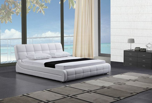 QUEEN  KACIA LEATHERETTE  BED (B086) - ASSORTED COLORS AVAILABLE (SEE COLOR BOARD)