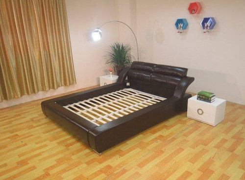 KING  MACAULAY  LEATHERETTE  BED  (B091) - ASSORTED COLORS AVAILABLE (SEE COLOR BOARD)