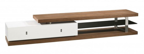 COLLINS  TV UNIT (WD-209)  -   2400(W) - HIGH GLOSS WHITE / WALNUT