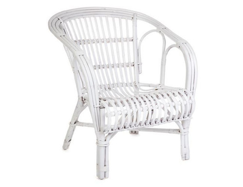 NZ (DET776) ARM CHAIR -  WHITE