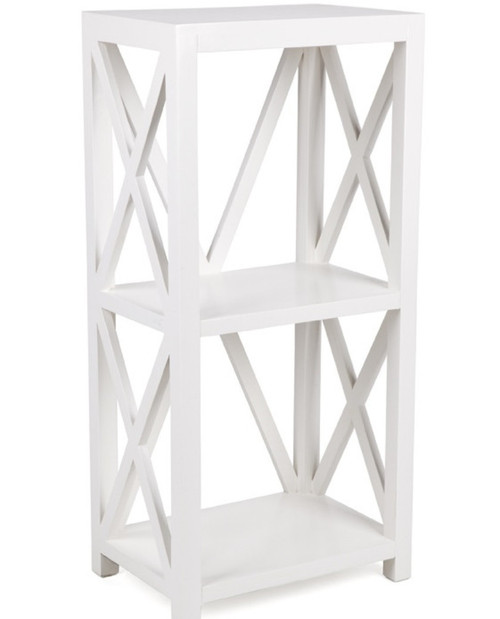 X STYLE CROSSED  BOOKCASE  (DET633S) -  1090(H) X 500(W) - WHITE