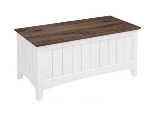 HABIBA (900) BLANKET BOX (2-18-9-20-20-1-14-25) - WHITE / DARK WENGE