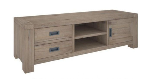 OYSTER BAY  TV UNIT WITH  2 DRAWERS & 1 DOOR (VOB-010) - 1730(W)   - ASH