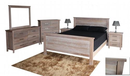 GAP  QUEEN 4 PIECE  TALLBOY BEDROOM SUITE - WHITEWASH