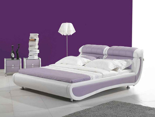 KING  LAURA  LEATHERETTE   BED  (CD034) - ASSORTED COLORS AVAILABLE