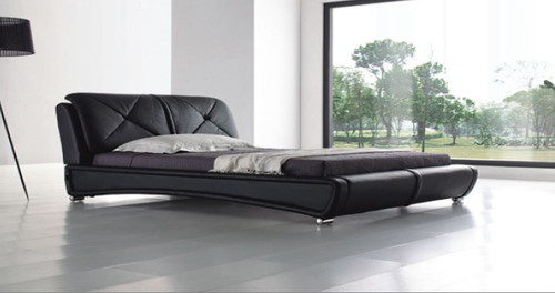 KING  PETERSON LEATHERETTE   BED  (CD046) - WITH VELCRO CUSHIONS -   ASSORTED COLORS AVAILABLE