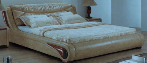 KING  BURNA LEATHERETTE   BED  (CD049) -  ASSORTED COLORS AVAILABLE