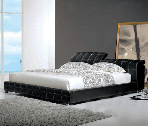 KING SUNDELA  LEATHERETTE   BED  (CD056) -  ASSORTED COLORS AVAILABLE