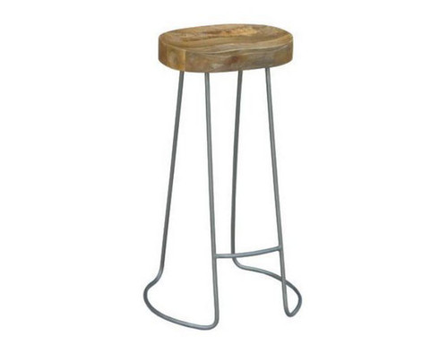 TRACTOR STOOL (WOST-004) - SEAT: 680(H) - GREY / NATURAL