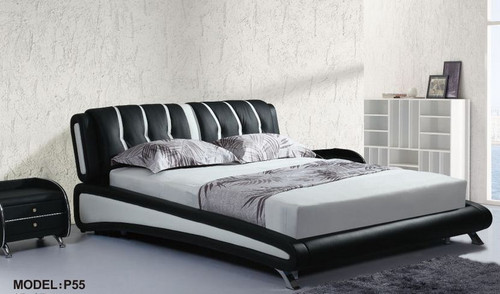 KING NAMET LEATHERETTE   BED  (CD059) -  ASSORTED COLORS AVAILABLE