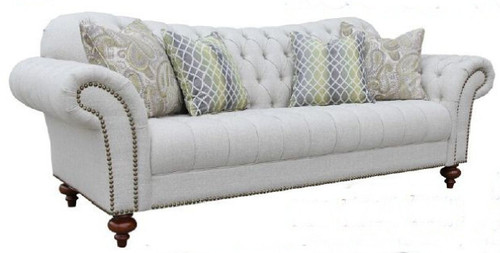 HAMAN (3) THREE SEATER  FABRIC   LOUNGE (MODEL - 12-15-21-9-19-91-14-1)  AS PICTURED