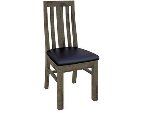 WAREHOUSE DINING CHAIR WITH UPHOLSTERED SEAT   (VWR-006)  - KHAKI