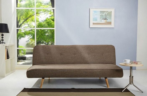 STUDIO  CLICK - CLACK FABRIC  SOFA BED - BROWN