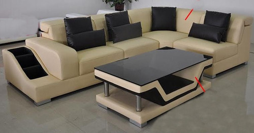 WINNERS LEATHERETTE  CORNER  LOUNGE SUITE WITH COFFEE TABLE   (MODEL-G8008D)   - CHOICE OF LEATHER AND ASSORTED COLOURS AVAILABLE