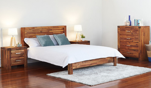 DOUBLE PHILLIPE BED - ACACIA