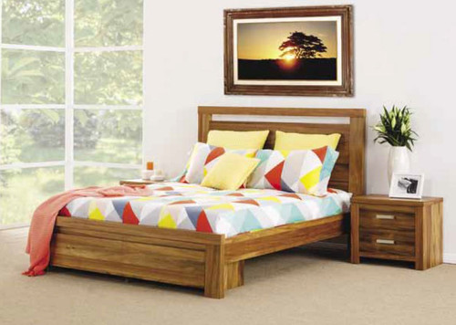 QUEEN MARATHAH BED WITH 2 UNDERBED DRAWERS (23-1-18-1-20-1-8) - NATURAL