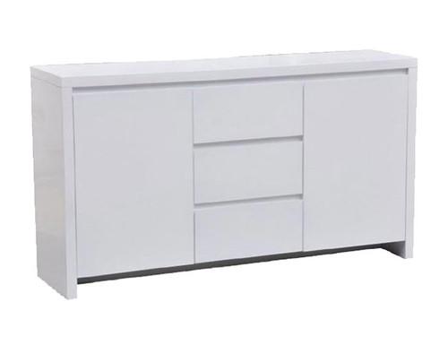 WAVERLEY 2 DOOR & 3 DRAWER SIDEBOARD -  800(H) X 1500(W)- HI GLOSS WHITE