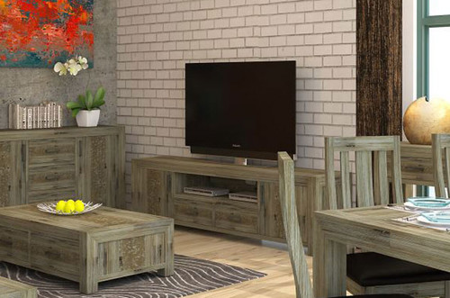 YARRA TV UNIT (VYR-015) WITH 2 DOORS / 2 DRAWERS AND 1 NICHE - 2210(W) - MOCCHA