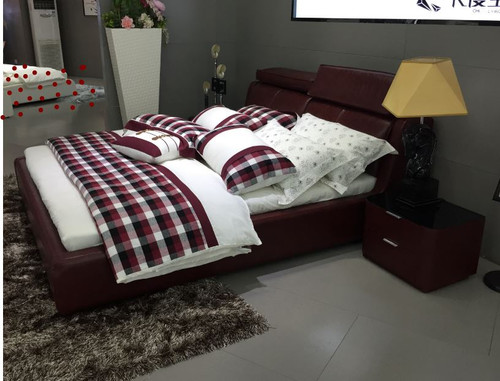 KING GENERATION   LEATHERETTE BED  -  (MODEL - A9505) -  WITH GAS LIFT UNDERBED OPTION AVAILABLE - ASSORTED COLOURS