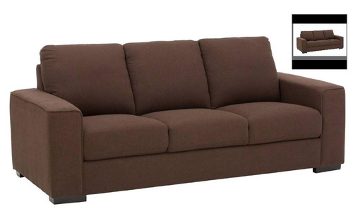 ALBA 3 SEATER FABRIC LOUNGE - ASSORTED COLOURS