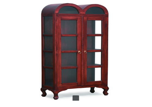 DOUBLE LARGE DOME 1900(H) X 800(W) DISPLAY CABINET (DC 200 DDL) - CHOCOLATE OR MAHOGANY