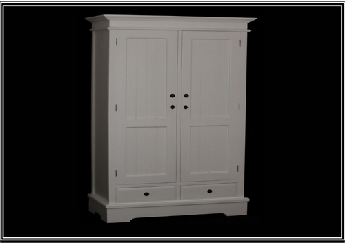 CASTRO  2 DOOR 2  DRAWER  WARDROBE CAB152  - 1900(H) x 1100(W) - WHITE