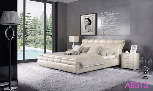 KING  FOSTER  LEATHERETTE  BED  (MODEL - A9313) - ASSORTED COLOURS (MADE TO ORDER)
