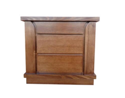 BERCELONA BEDSIDE TABLE (MODEL 2-12-1-9-14-5) - LIGHT CHESTNUT