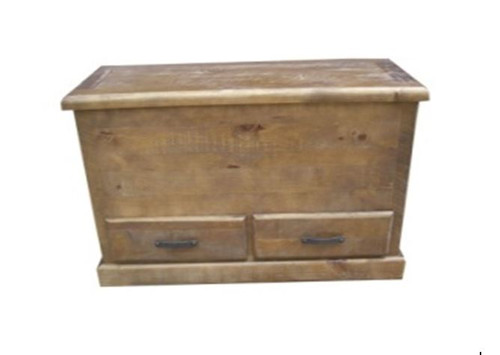 COBAR (COBBB) BLANKET BOX WITH 2 DRAWERS - ROUGH SAWED (DARKER THAN IMAGE)