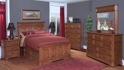 FELTON KING  5 PIECE DRESSER  BEDROOM SUITE (11-9-14-7-19-15-14)