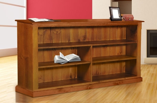 TIMBER DRAGON / COLONIAL WITH FACINGS LOWLINE BOOKCASE - 1000(H) X 2200(W) - PRICED IN WHITE OR ANTIQUE WHITE (IVORY)