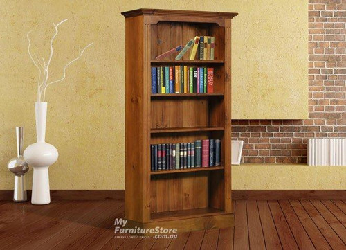 COLONIAL / FEDERATION BOOKCASE (6 X 3) - 1800(H) X 900(W) - ASSORTED COLOURS